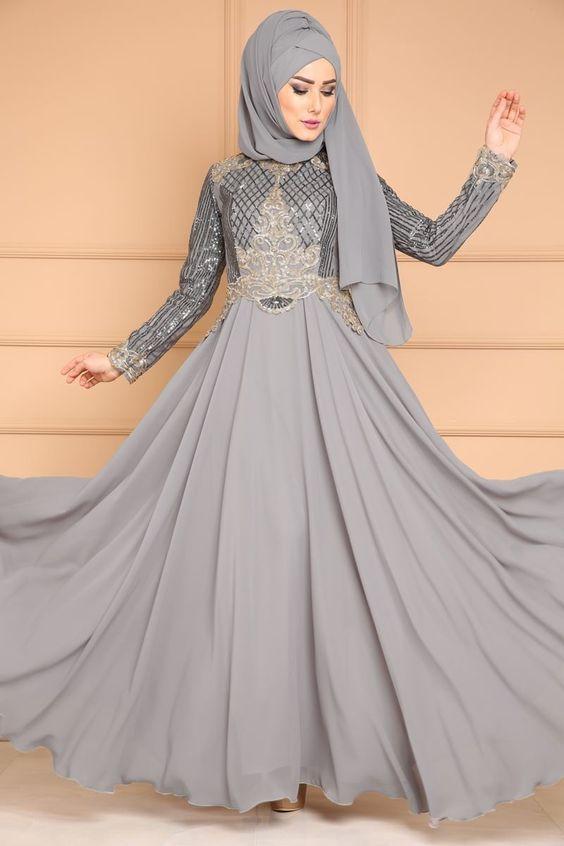 صور احلى فساتين للمحجبات , اجمل تصاميم الفساتين تاخد عقلك