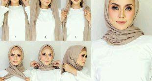 طريقة لف الحجاب بالصور خطوة خطوة , يلا جددي شكل حجابك باسهل الطرق