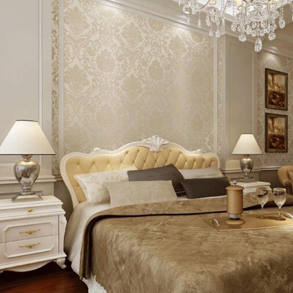 صور ورق جدران لغرف نوم , اجمل تصاميم جدران بورق الحائط منتهى الشياكة