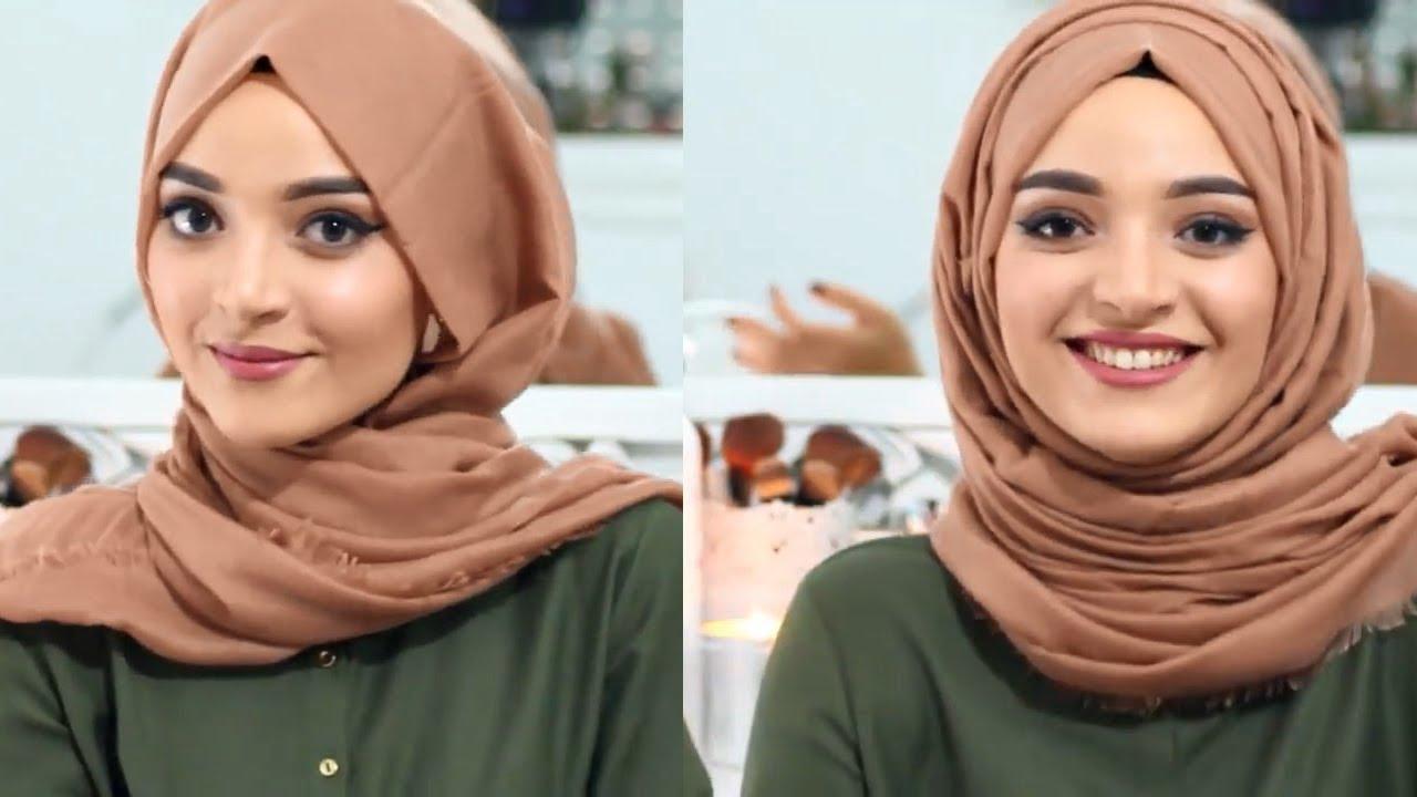 صورة ربطات حجاب بسيطة , الحجاب ببساطه فى لفات الموضه