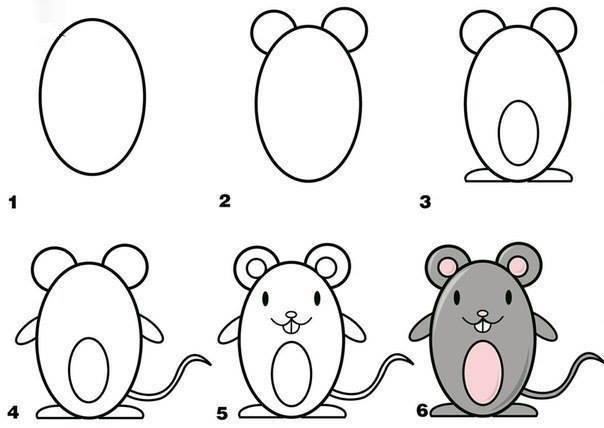 كيفية رسم الحيوانات اسهل طرق لرسم الحيونات دلوعه كشخه