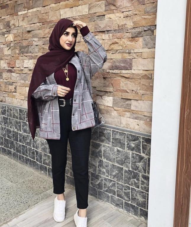 صورة ازياء شتاء 2019 للمحجبات , اااجمل ملابس شتاء محجبات