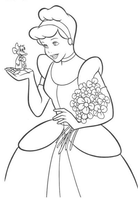 رسم سندريلا للتلوين سندريلا اسطورة الحكايات في رسومات ملونة