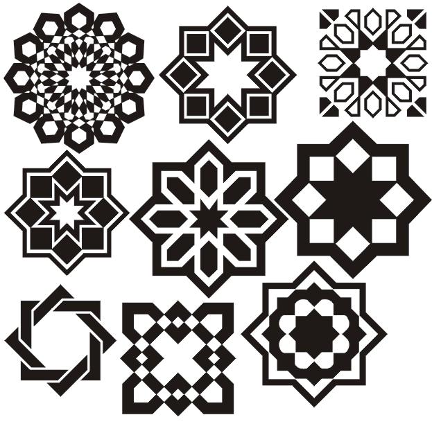 صورة اشكال هندسية اسلامية , افضل الزخارف الاسلامية في العصور القديمة