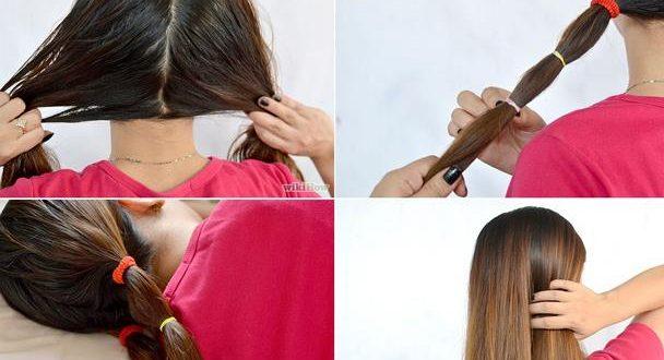 صورة طريقة ربط الشعر لتطويله , اساليب معينة للربط لتزيد من طول شعرك