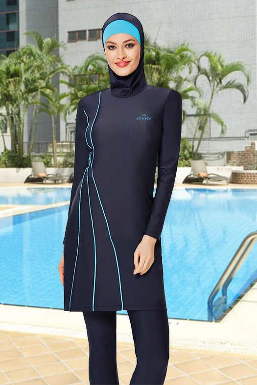 صورة ملابس سباحة للمحجبات , اختاري موديلات مايوهات للسباحة تناسب شكلك للبنات المحجبة