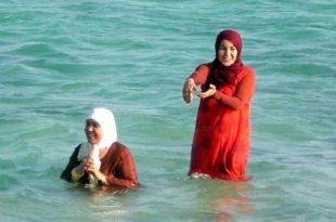 صورة النساء على البحر , عادات السيدات في المصايف