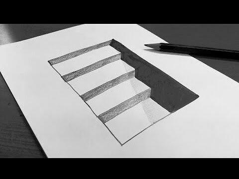 صورة رسم ثلاثي الابعاد سهل , رسومات اقرب للواقع