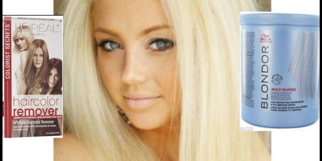 صورة سحب لون الشعر من غارنييه , طريقة سحب اللون