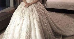 صورة فساتين عرايس ناعمه وفخمه , اجمل فستان لاحلى عروسة