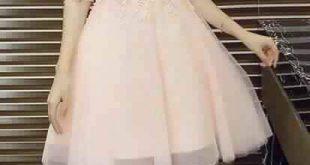 صورة فساتين سواريه قصيرة 2019 , اجمل الفساتين القصيره السواريه