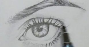 صورة طريقة رسم عين , احترف طرق الرسم