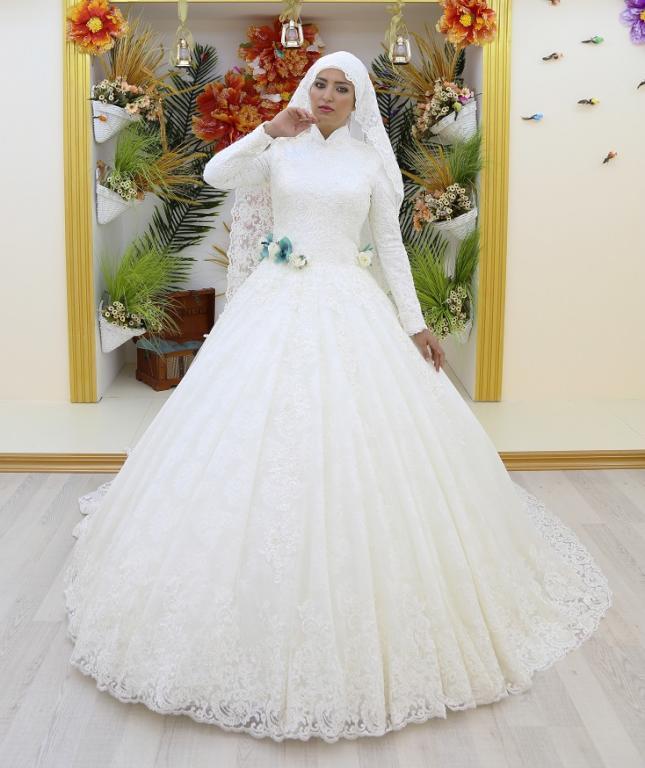 صورة فساتين الزفاف للمحجبات , اختاري فستان فرحك