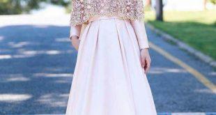 صورة فستان قطعتين تنوره وبلوزه , اشيك موضة للفساتين