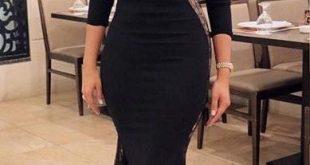 صورة فستان سواريه اسود , عندك فرح او سهره اجمل الفساتين