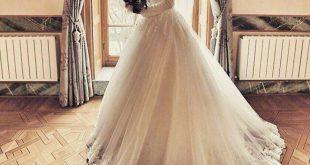 صورة فساتين زفاف محجبات تركية , اجمل فساتين زفاف تركى