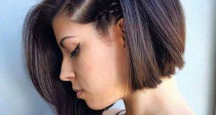 صورة ضفائر الشعر القصير , دلعى نفسك وصغريها بضفاير جميله