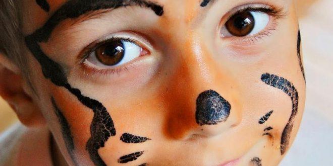 صورة رسومات وجه للاطفال سهله , ابسط الطرق للتلوين علي الوجه