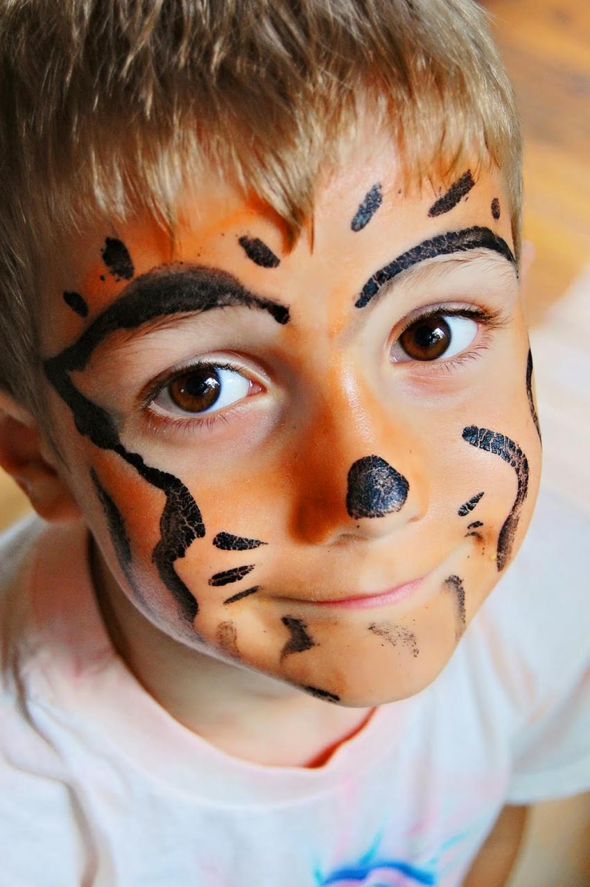 رسومات وجه للاطفال سهله ابسط الطرق للتلوين علي الوجه دلوعه كشخه