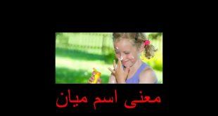 صورة معنى اسم ميان في المعجم العربي , تعرف علي معني اجمل اسم