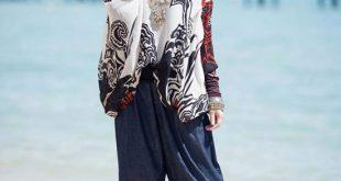 صورة صور بنات محجبات على الشاطئ , صيف شيق بالحجاب