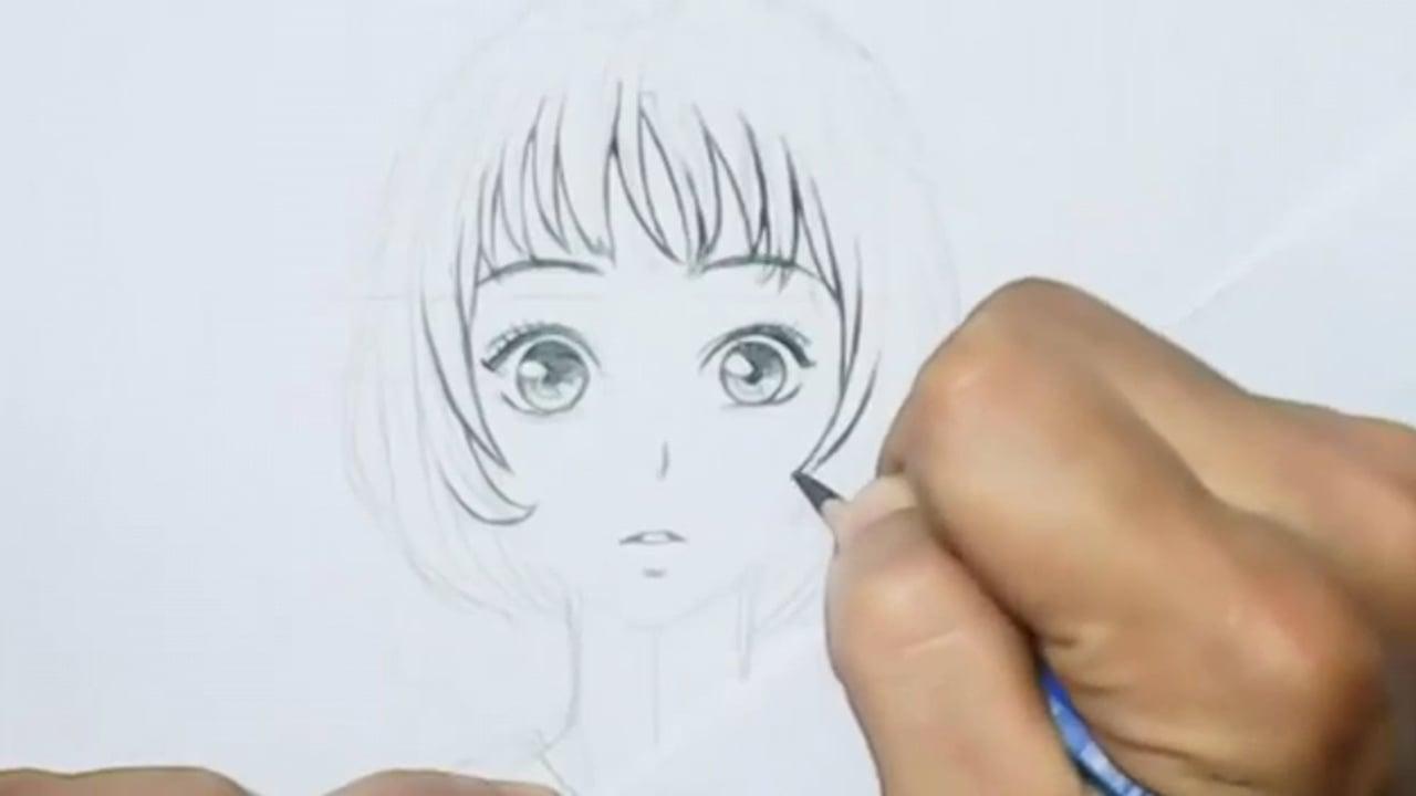 صورة رسم انمي بنات , اجمل رسومات لانمى بنت